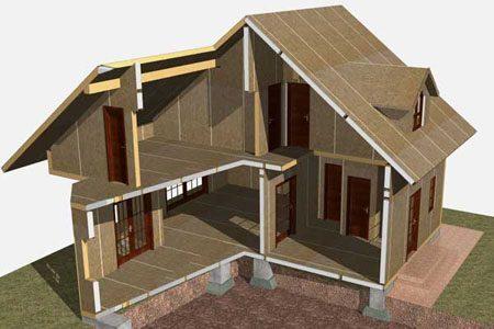 Строительство зданий на основе стеновых SIP панелей в Уфе
