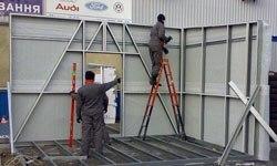 Строительство торговых павильонов в Уфе БМЗ